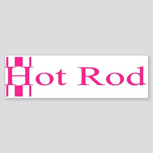 Retro Hot Rod Stripe-Pink Bumper Sticker